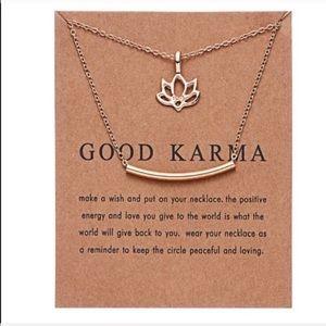 Good Karma Lotus Flower Necklace
